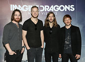 Daniel Platzman Dan Reynolds Wayne Sermon and Ben McKee of Imagine Dragons attend a press conference to promote their album 'Imagine Dragons Night...