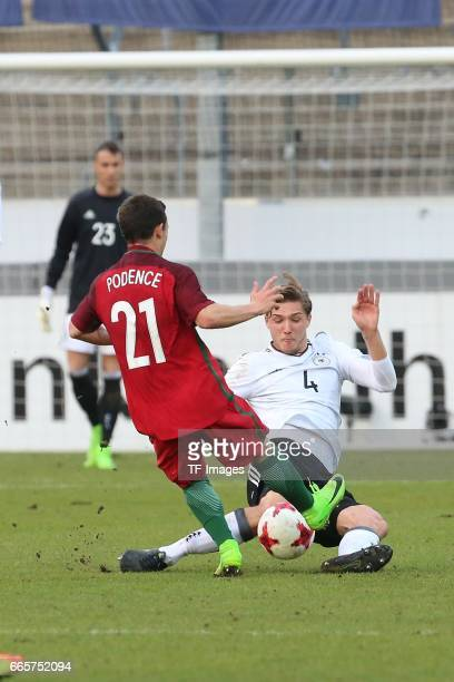 Daniel Podence Niklas Stark battle for the ball during the International Friendly match between Germany U21 and Portugal U21 at GaziStadion on March...