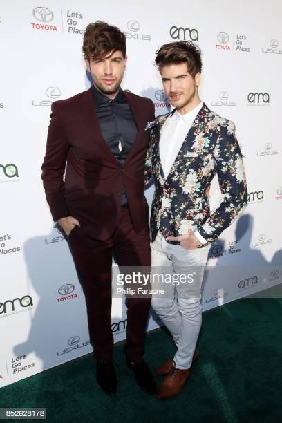 Daniel Preda and Joey Graceffa at the Environmental Media Association's 27th Annual EMA Awards at Barkar Hangar on September 23 2017 in Santa Monica...