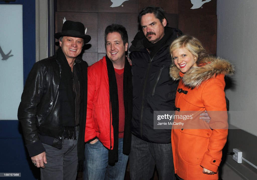 Daniel Quinn, Steve Little, Mark Birnum and <a gi-track='captionPersonalityLinkClicked' href=/galleries/search?phrase=Arden+Myrin&family=editorial&specificpeople=2194682 ng-click='$event.stopPropagation()'>Arden Myrin</a> attend Grey Goose Blue Door Anonymous Content Party on January 19, 2013 in Park City, Utah.