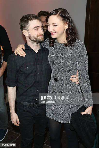 Daniel Radcliffe and Erin Darke attend the 'Swiss Army Man' Premiere Party at The Acura Studio at Sundance Film Festival 2016 on January 22 2016 in...