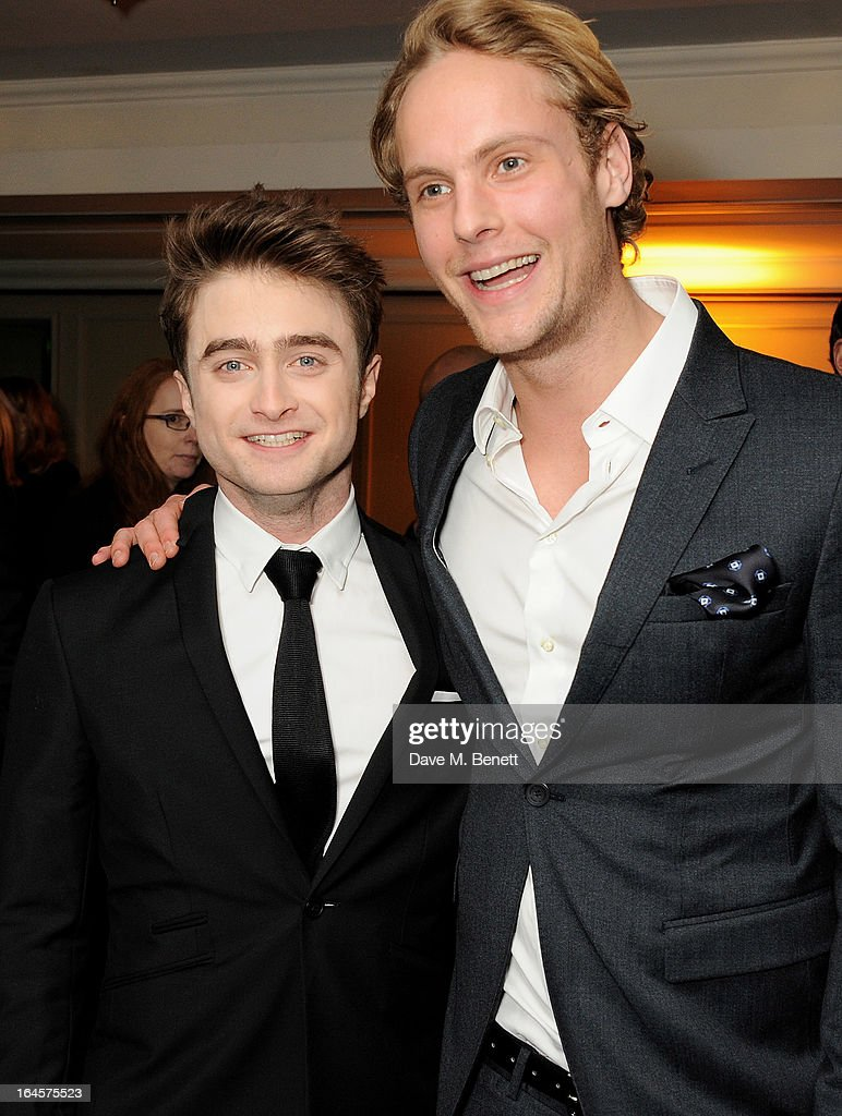 Daniel Radcliffe (L) and Jack Fox arrive at the Jameson Empire Awards 2013 at The Grosvenor House Hotel on March 24, 2013 in London, England.