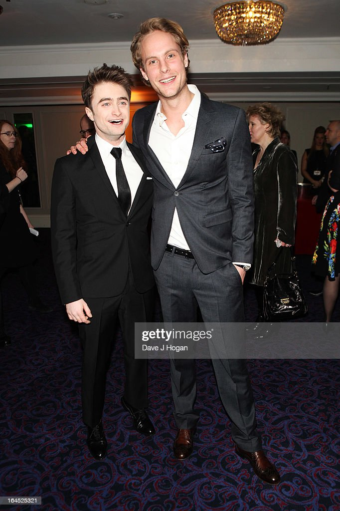Daniel Radcliffe and Jack Fox attend the Jameson Empire Awards 2013 at Grosvenor House Hotel on March 24, 2013 in London, England.
