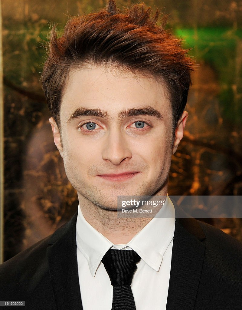 <a gi-track='captionPersonalityLinkClicked' href=/galleries/search?phrase=Daniel+Radcliffe&family=editorial&specificpeople=204144 ng-click='$event.stopPropagation()'>Daniel Radcliffe</a> arrives at the Jameson Empire Awards 2013 at The Grosvenor House Hotel on March 24, 2013 in London, England.