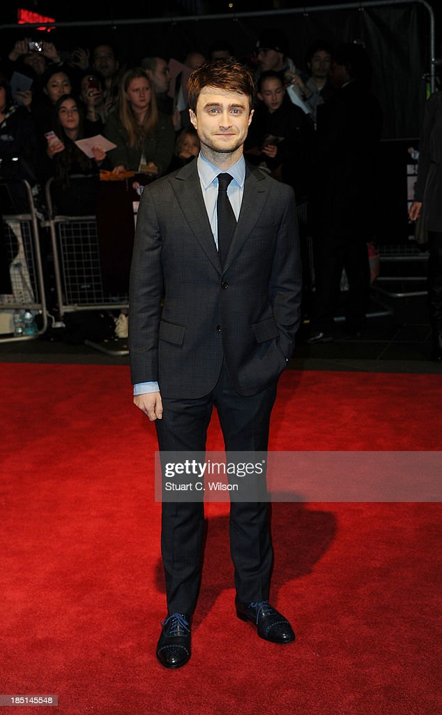 Daniel Radcliffe attends a screening of 'Kill Your Darlings' during the 57th BFI London Film Festival at Odeon West End on October 17, 2013 in London, England.