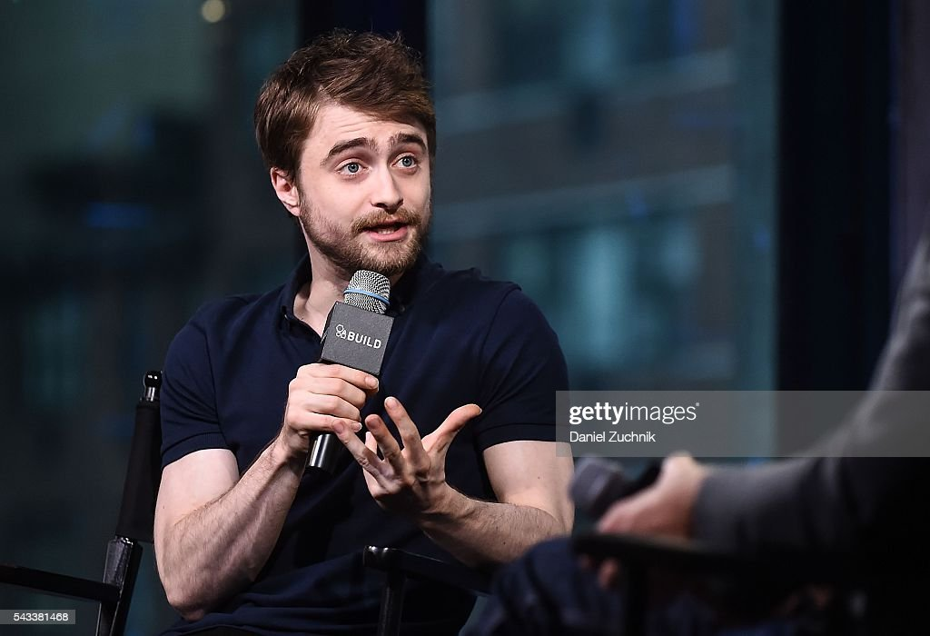 <a gi-track='captionPersonalityLinkClicked' href=/galleries/search?phrase=Daniel+Radcliffe&family=editorial&specificpeople=204144 ng-click='$event.stopPropagation()'>Daniel Radcliffe</a> attends AOL Build to discuss the movie 'Swiss Army Man' at AOL Studios on June 27, 2016 in New York City.