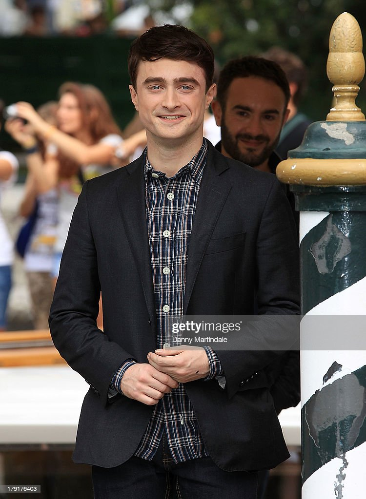 <a gi-track='captionPersonalityLinkClicked' href=/galleries/search?phrase=Daniel+Radcliffe&family=editorial&specificpeople=204144 ng-click='$event.stopPropagation()'>Daniel Radcliffe</a> attends day 5 of the 70th Venice International Film Festival on September 1, 2013 in Venice, Italy.