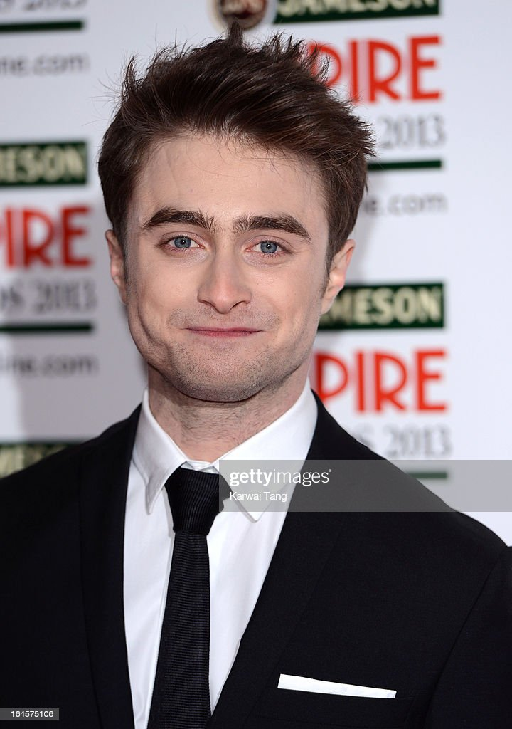 Daniel Radcliffe attends the 18th Jameson Empire Film Awards at Grosvenor House, on March 24, 2013 in London, England.
