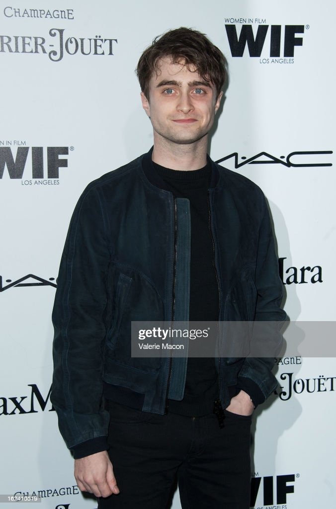 <a gi-track='captionPersonalityLinkClicked' href=/galleries/search?phrase=Daniel+Radcliffe&family=editorial&specificpeople=204144 ng-click='$event.stopPropagation()'>Daniel Radcliffe</a> attends the 6th Annual Women In Film Pre-Oscar Party hosted by Perrier Jouet, MAC Cosmetics and MaxMara at Fig & Olive Melrose Place on February 22, 2013 in West Hollywood, California.