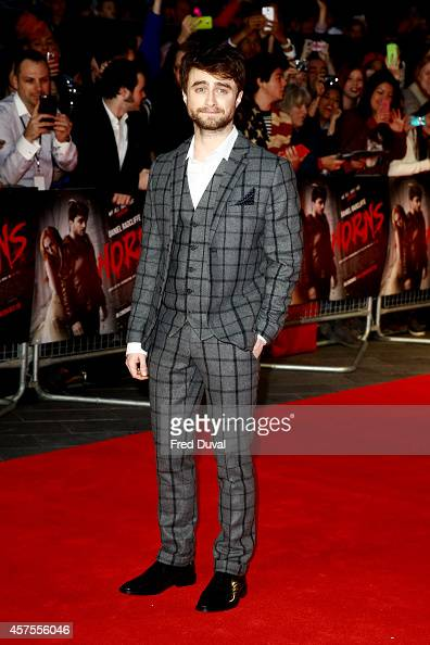Daniel Radcliffe attends the 'Horns' premiere at Odeon West End on October 20 2014 in London England