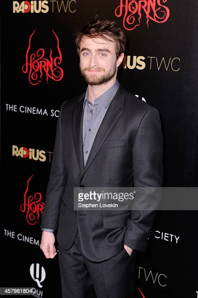 Daniel Radcliffe attends the RADiUS TWC and The Cinema Society New York Premiere of 'Horns' at Landmark Sunshine Cinema on October 27 2014 in New...