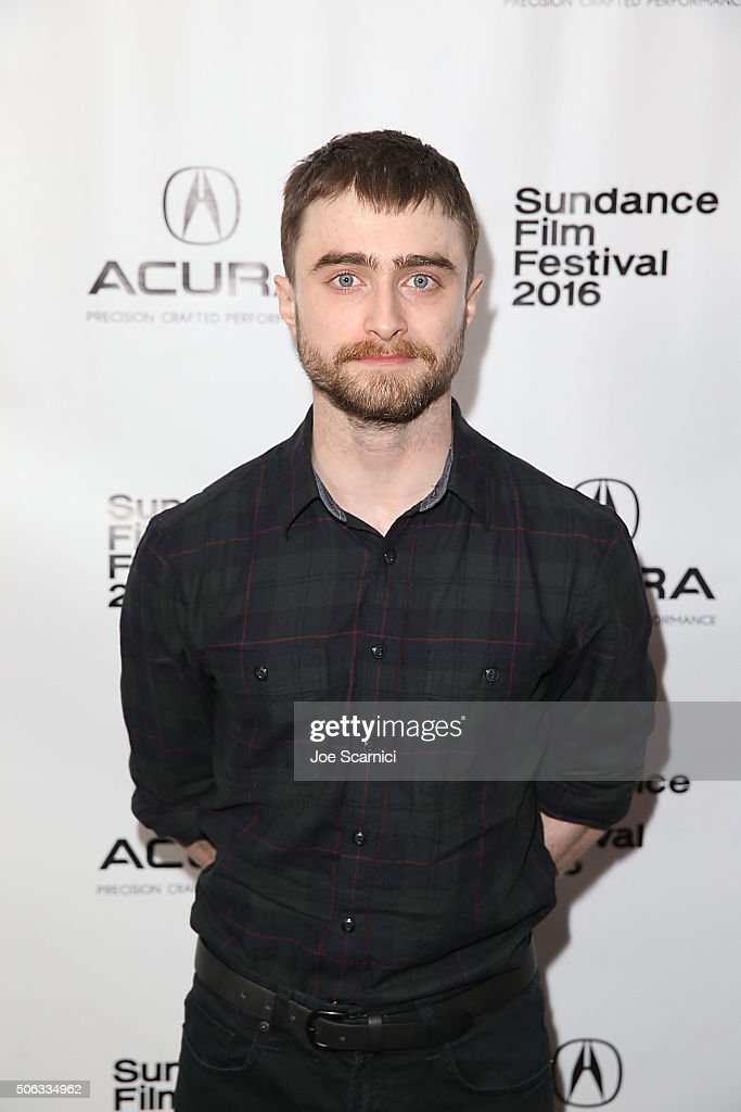 <a gi-track='captionPersonalityLinkClicked' href=/galleries/search?phrase=Daniel+Radcliffe&family=editorial&specificpeople=204144 ng-click='$event.stopPropagation()'>Daniel Radcliffe</a> attends the 'Swiss Army Man' Premiere Party at The Acura Studio at Sundance Film Festival 2016 on January 22, 2016 in Park City, Utah.