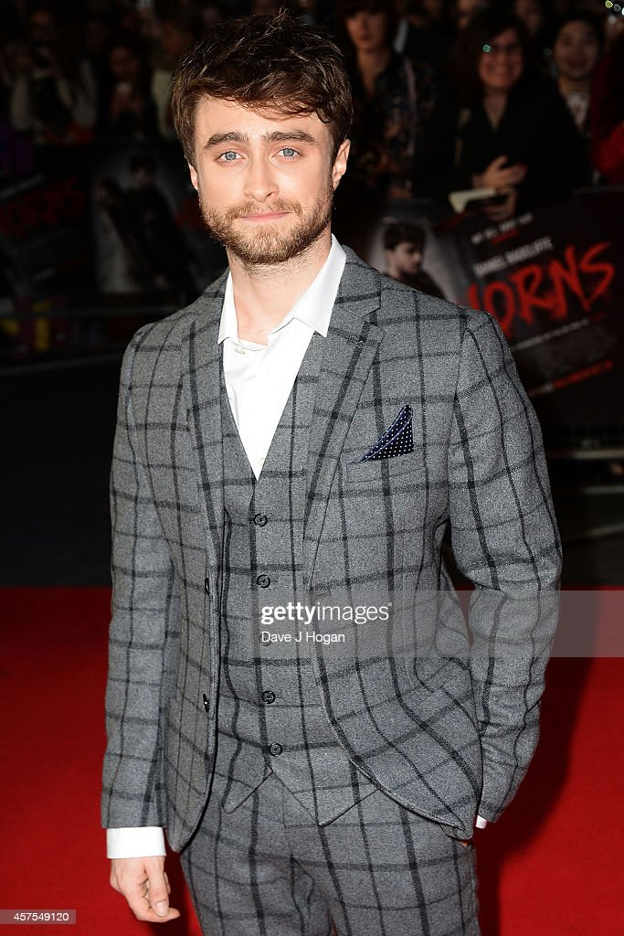 <a gi-track='captionPersonalityLinkClicked' href=/galleries/search?phrase=Daniel+Radcliffe&family=editorial&specificpeople=204144 ng-click='$event.stopPropagation()'>Daniel Radcliffe</a> attends the UK Premiere of 'Horns' at Odeon West End on October 20, 2014 in London, England.