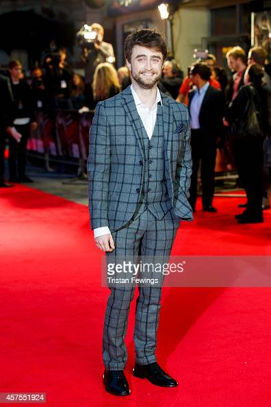 Daniel Radcliffe attends the UK Premiere of 'Horns' at Odeon West End on October 20 2014 in London England