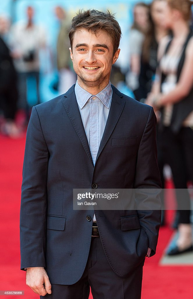 <a gi-track='captionPersonalityLinkClicked' href=/galleries/search?phrase=Daniel+Radcliffe&family=editorial&specificpeople=204144 ng-click='$event.stopPropagation()'>Daniel Radcliffe</a> attends the UK Premiere of 'What If' at Odeon West End on August 12, 2014 in London, England.