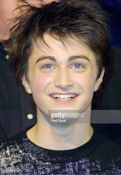 Daniel Radcliffe during 'Harry Potter and the Chamber of Secrets' DVD Launch at Leavesden Studios in Hertfordshire Great Britain
