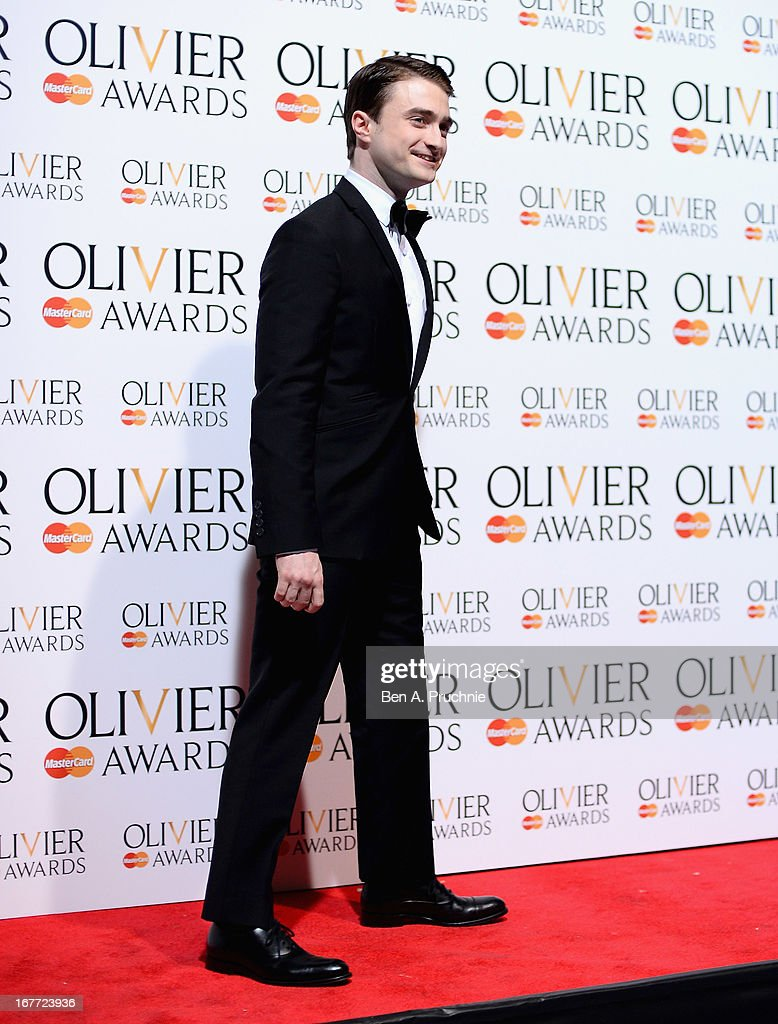 Daniel Radcliffe during The Laurence Olivier Awards at the Royal Opera House on April 28, 2013 in London, England.