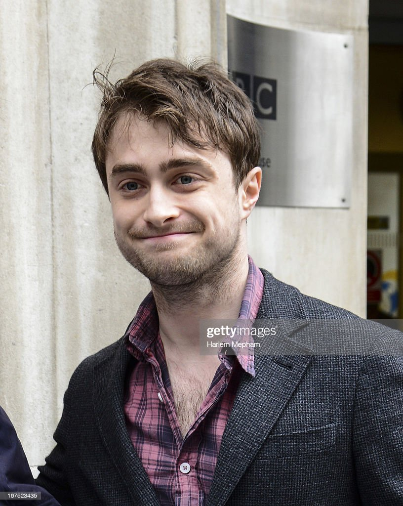 Daniel Radcliffe is seen at BBC Radio One on April 26, 2013 in London, England.