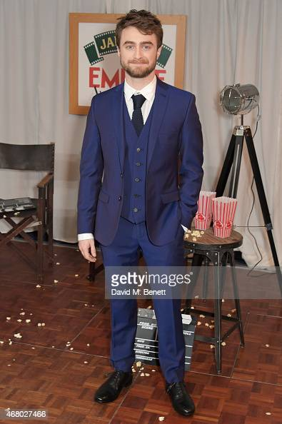 Daniel Radcliffe poses in the Winners Room after presenting an award at the Jameson Empire Awards 2015 at Grosvenor House on March 29 2015 in London...