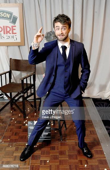 Daniel Radcliffe poses in the Winners room at the Jameson Empire Awards 2015 at Grosvenor House on March 29 2015 in London England