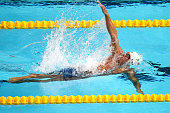 Daniel Ramirez Carranza of Mexico competes in the Men's 50m Backstroke heats on day fifteen of the 16th FINA World Championships at the Kazan Arena...