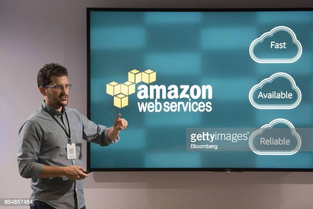 Daniel Rausch vice president of Smart Home at Amazoncom Inc speaks during the company's product reveal launch event in downtown Seattle Washington US...