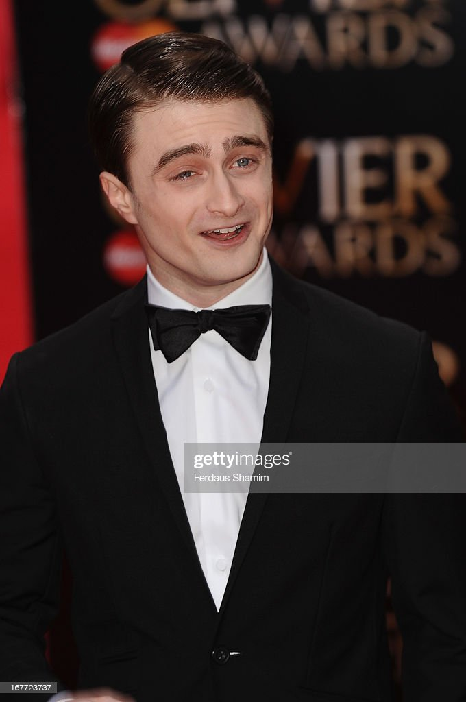 Daniel Redcliffe attends The Laurence Olivier Awards at The Royal Opera House on April 28, 2013 sLondon, England.