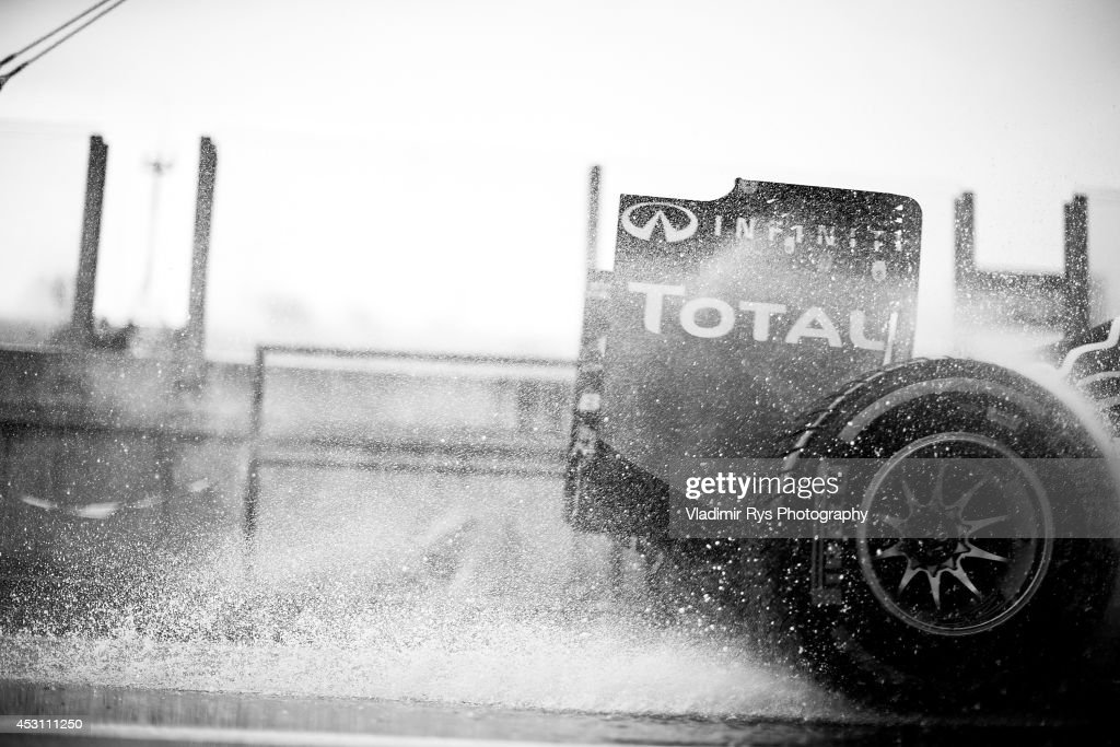Daniel Ricciardo of Australia and Infiniti Red Bull Racing drives during the Hungarian Formula One Grand Prix at Hungaroring on July 27, 2014 in Budapest, Hungary.