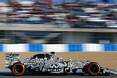 Daniel Ricciardo of Australia and Infiniti Red Bull Racing drives during day one of Formula One Winter Testing at Circuito de Jerez on February 1...