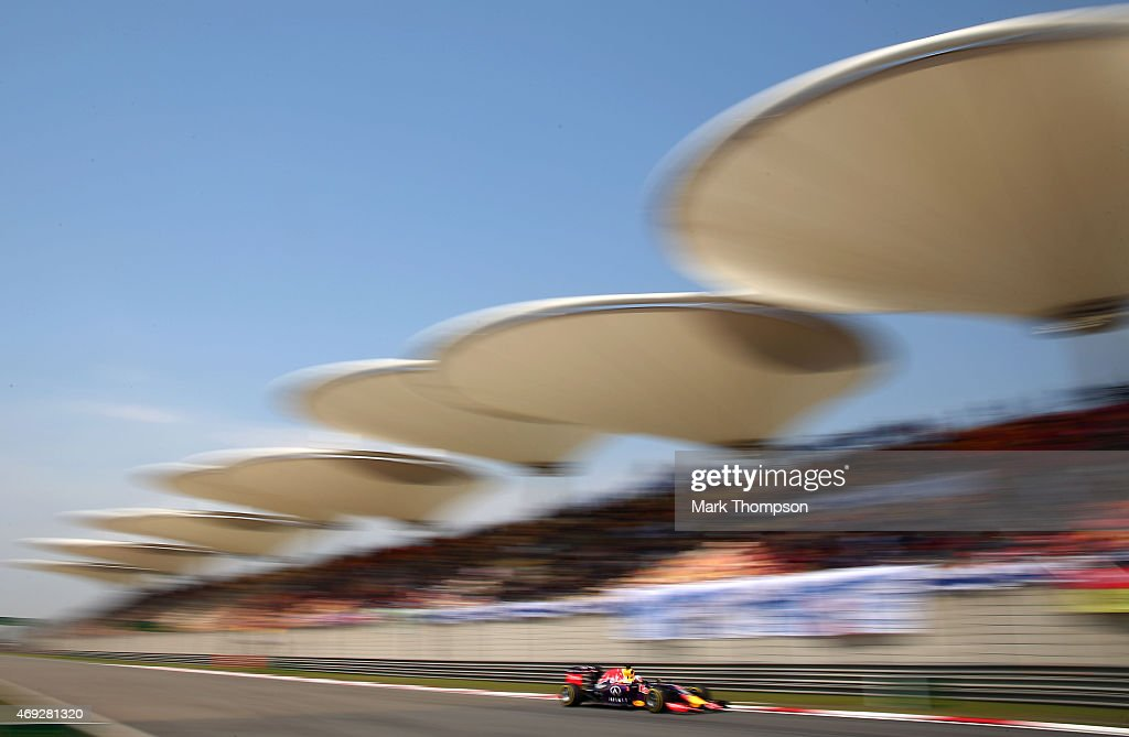 Daniel Ricciardo of Australia and Infiniti Red Bull Racing drives during final practice for the Formula One Grand Prix of China at Shanghai...