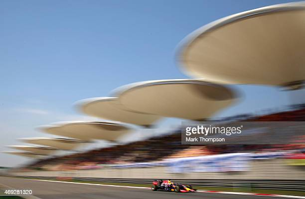 Daniel Ricciardo of Australia and Infiniti Red Bull Racing drives during final practice for the Formula One Grand Prix of China at Shanghai...