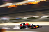 Daniel Ricciardo of Australia and Infiniti Red Bull Racing drives during practice for the Bahrain Formula One Grand Prix at Bahrain International...