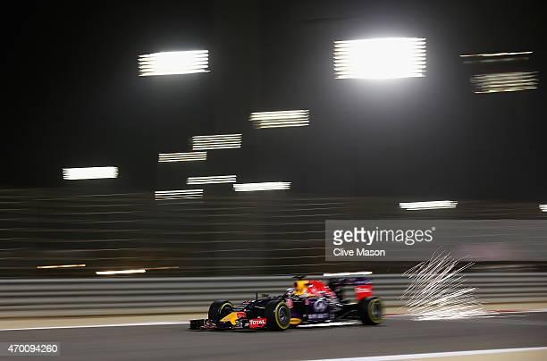 Daniel Ricciardo of Australia and Infiniti Red Bull Racing drives during practice for the Bahrain Formula One Grand Prix at Bahrain International...