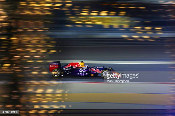 Daniel Ricciardo of Australia and Infiniti Red Bull Racing drives during qualifying for the Bahrain Formula One Grand Prix at Bahrain International...