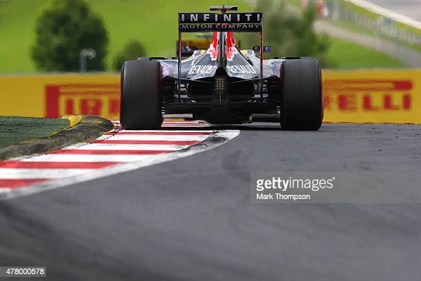 Daniel Ricciardo of Australia and Infiniti Red Bull Racing drives during the Formula One Grand Prix of Austria at Red Bull Ring on June 21 2015 in...