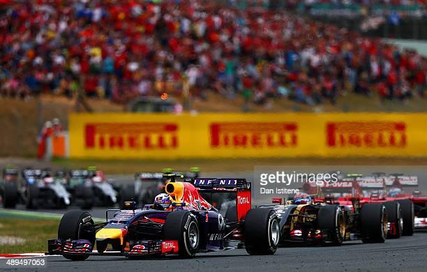Daniel Ricciardo of Australia and Infiniti Red Bull Racing drives through turn three during the Spanish Formula One Grand Prix at Circuit de...