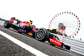 Daniel Ricciardo of Australia and Infiniti Red Bull Racing drives during qualifying for the Formula One Grand Prix of Japan at Suzuka Circuit on...