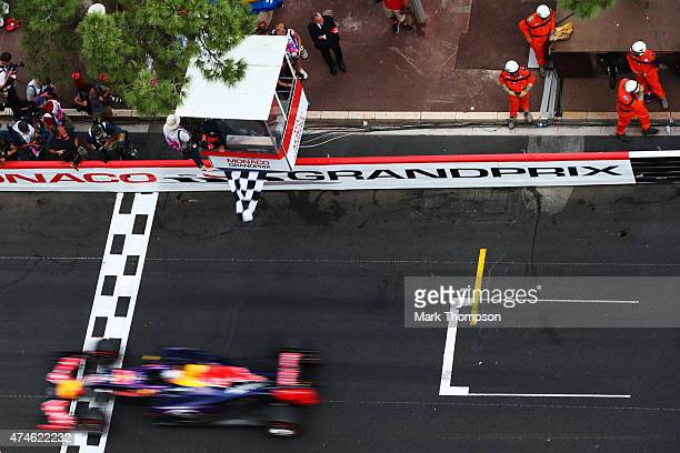 Daniel Ricciardo of Australia and Infiniti Red Bull Racing finishes the race during the Monaco Formula One Grand Prix at Circuit de Monaco on May 24...