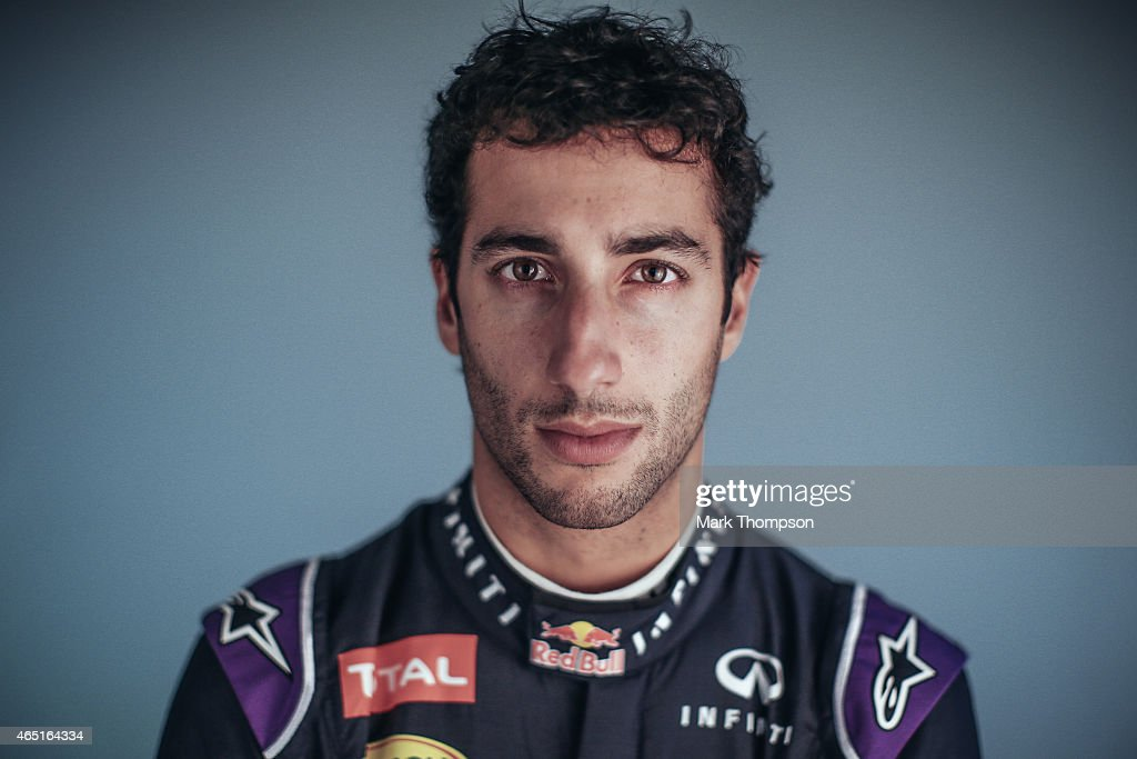 Daniel Ricciardo of Australia and Infiniti Red Bull Racing poses for a portrait during day three of Formula One Winter Testing at Circuit de Catalunya on February 21, 2015 in Montmelo, Spain.