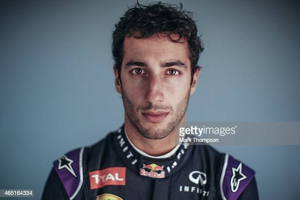 Daniel Ricciardo of Australia and Infiniti Red Bull Racing poses for a portrait during day three of Formula One Winter Testing at Circuit de...