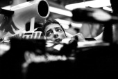 Daniel Ricciardo of Australia and Infiniti Red Bull Racing sits in his car in the garage during qualifying ahead of the German Grand Prix at...