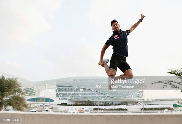 Daniel Ricciardo of Australia and Red Bull Racing during previews for the Abu Dhabi Formula One Grand Prix at Yas Marina Circuit on November 24 2016...
