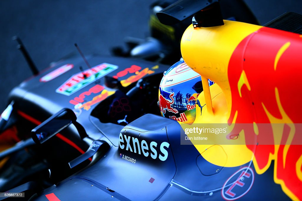 Daniel Ricciardo of Australia and Red Bull Racing enters parc ferme after the Formula One Grand Prix of Russia at Sochi Autodrom on May 1, 2016 in Sochi, Russia.