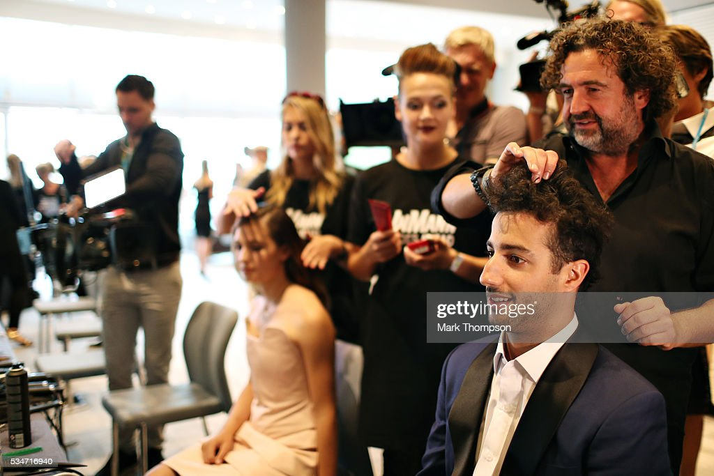 <a gi-track='captionPersonalityLinkClicked' href=/galleries/search?phrase=Daniel+Ricciardo&family=editorial&specificpeople=6547569 ng-click='$event.stopPropagation()'>Daniel Ricciardo</a> of Australia and Red Bull Racing gets ready backstage at the Amber Lounge fashion show during previews to the Monaco Formula One Grand Prix at Circuit de Monaco on May 27, 2016 in Monte-Carlo, Monaco.