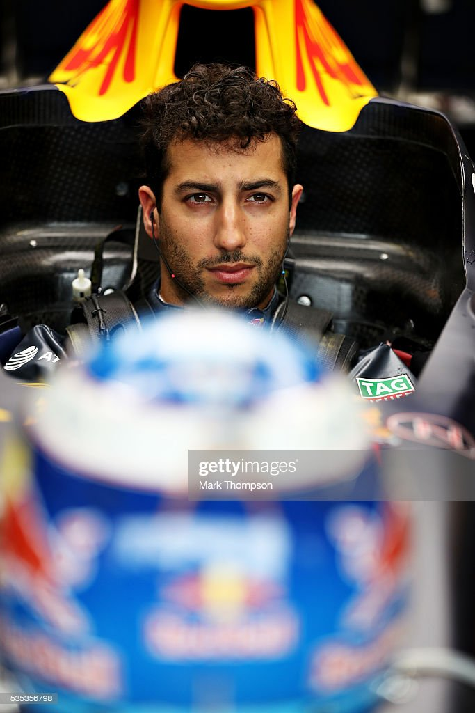 <a gi-track='captionPersonalityLinkClicked' href=/galleries/search?phrase=Daniel+Ricciardo&family=editorial&specificpeople=6547569 ng-click='$event.stopPropagation()'>Daniel Ricciardo</a> of Australia and Red Bull Racing gets ready in the garage before the Monaco Formula One Grand Prix at Circuit de Monaco on May 29, 2016 in Monte-Carlo, Monaco.