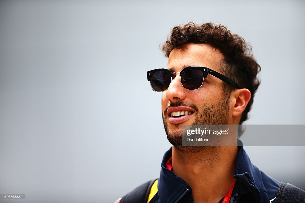Daniel Ricciardo of Australia and Red Bull Racing in the Paddock ahead of the Formula One Grand Prix of Russia at Sochi Autodrom on May 1, 2016 in Sochi, Russia.
