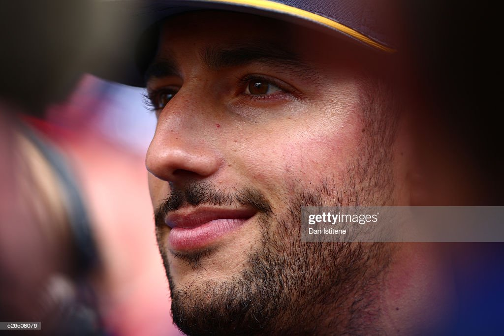 Daniel Ricciardo of Australia and Red Bull Racing in the Paddock during qualifying for the Formula One Grand Prix of Russia at Sochi Autodrom on April 30, 2016 in Sochi, Russia.
