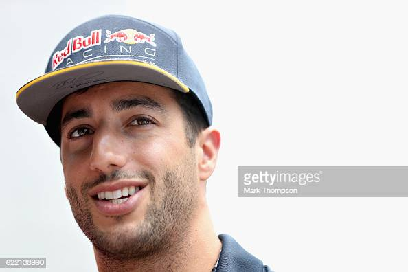 Daniel Ricciardo of Australia and Red Bull Racing in the Paddock during previews for the Formula One Grand Prix of Brazil at Autodromo Jose Carlos...