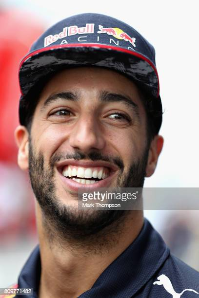 Daniel Ricciardo of Australia and Red Bull Racing looks on during previews ahead of the Formula One Grand Prix of Austria at Red Bull Ring on July 6...