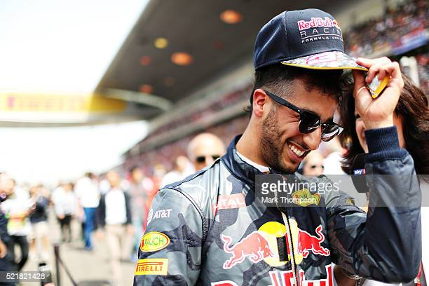 Daniel Ricciardo of Australia and Red Bull Racing on the grid during the Formula One Grand Prix of China at Shanghai International Circuit on April...